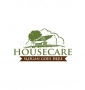 House with Nature Housing Logo Template
