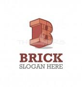 B Letter Brick Letter Elite Logo Template