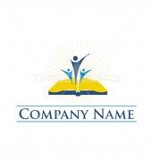 Book & Kids Logo Template