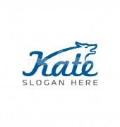 K Letter Animal Creative Pet Logo Template