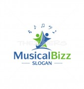 Music N Dance Musical Logo Template
