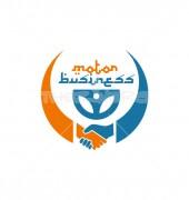 Motor Steering Global Community Logo Template