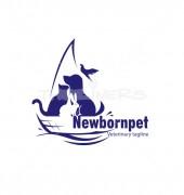 Pets At Boat Pet Premade Logo Design