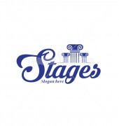 Three Pillars Stages Premade Management Logo Template