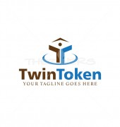 Twin Token Child Care Premade Logo Template