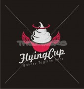 Cake-N-Pie Cup Delicious Bakery Food Logo Template
