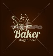 Baker Chef Fast Food Restaurant Logo Template