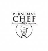 Personal Chef Food Cafe Shop Logo Template