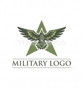A Military Eagle Creation Logo Template
