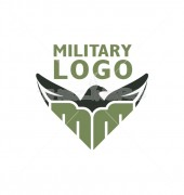 Unique Shape Eagle Manufacturing Premade Logo Design