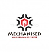 Mechanised Tools Premade Cleaning Services Logo Design