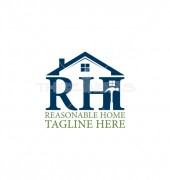 RH Reasonable Home Affordable Housing Logo Design