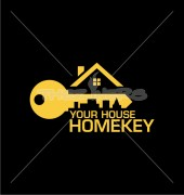 City Home Key Premade Real Estate Logo Vector