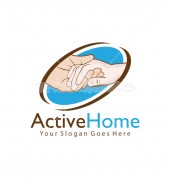 Active Home Real Estate Logo Symbol