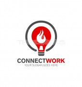 Connect Energy Manufacturing Premade Logo Design
