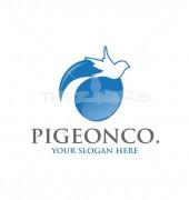 Pigeon Silhouette Non profit Logo Template