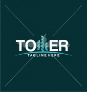 Three Tower Abstract Product Logo Template