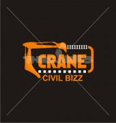 Civil Crane Abstract Real Estate Logo Outline