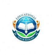 Educational Achievement Creative Child Care Logo Template
