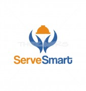 Serve Smart Fast Food Restaurant Logo Template