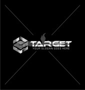 Silver Target Abstract Community Logo Template