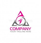 Moving Triangle Premade Abstract Product Logo Design
