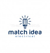 M Letter Match Idea Creative Logo Template