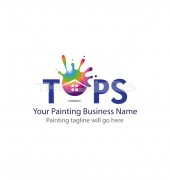 Tops Painting Affordable Cleaning Services Logo Design
