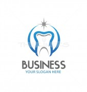 Strong Teeth Creative Dental Clinic Logo Template