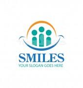 Family Smile Elegant Medical Care Logo Template