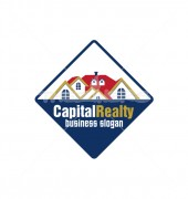 Capital Reality Rich Real Estate Logo Vector