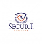 Secure Eye Shield Elegant Security Logo Template