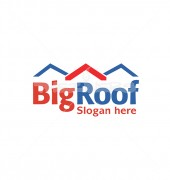 Roofing Affordable Housing Logo Design