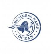 Fish Wave Rich Ocean Logo Template