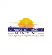 Sunrise Agency Property Insurance Solutions Logo Template