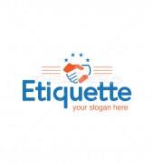 Etiquette Handshake Ngo Logo Template