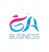 GA Letter 3D Swoosh Logo Template
