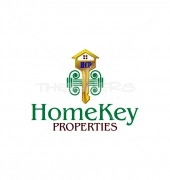 Golden Home Key Housing Logo Template