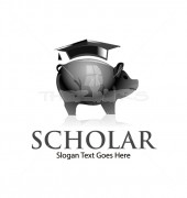 Scholarship Save World Logo Template
