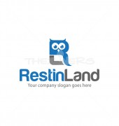 R Letter Rest in Land Elegant Logo Template