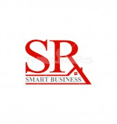 SR Letter Smart Home Real Estate Logo Template