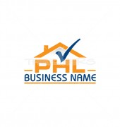 PHL Right House Real Estate Logo Template