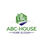 ABC House Creative Way Premade Housing Logo Vector