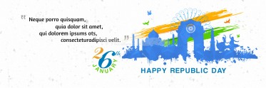 Splendid Republic Day Banner Template
