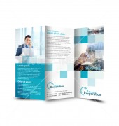 Financial Corporation Services Trifold Template