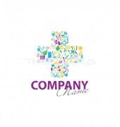 Colourful Plus Symbol Logo Template