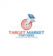 P Letter Target Market Finance Solutions Logo Template
