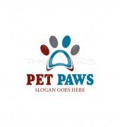 Pet Paws Creative Pet Care Logo Template