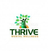 Health Cure Mental Wellness Medical Solution Logo Template