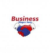 Meeting Handshake Global Community Logo Template